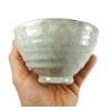 Bol The Vert Japonais Matcha Chawan Blanc Gris Artisanal Ceramique