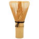 Grand Fouet à Thé Vert Japonais Matcha en Bambou Chasen 80 Brins / Bois Clair