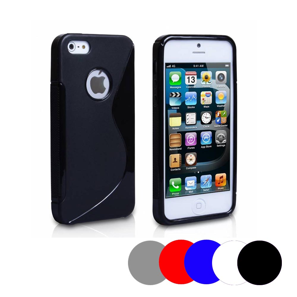 Coque Gel Vague S Pour Apple Iphone 5 - 5s