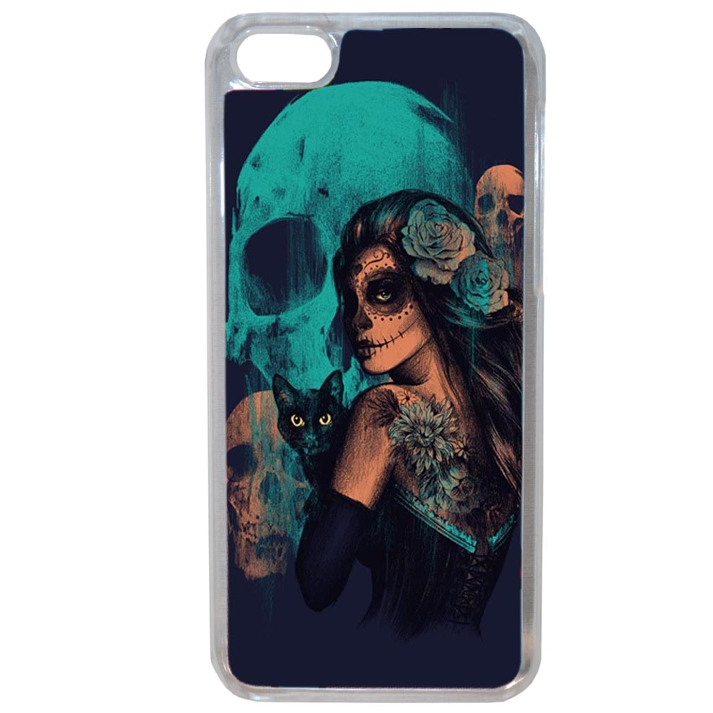 Coque Rigide Pour Apple Iphone 8 Motif Dia De Los Muertos