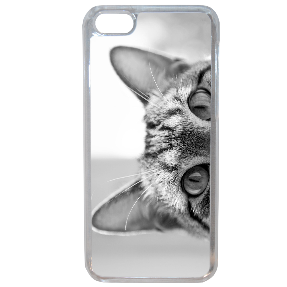 Coque Souple Pour Apple Iphone 8 Motif Chat Gris Humour