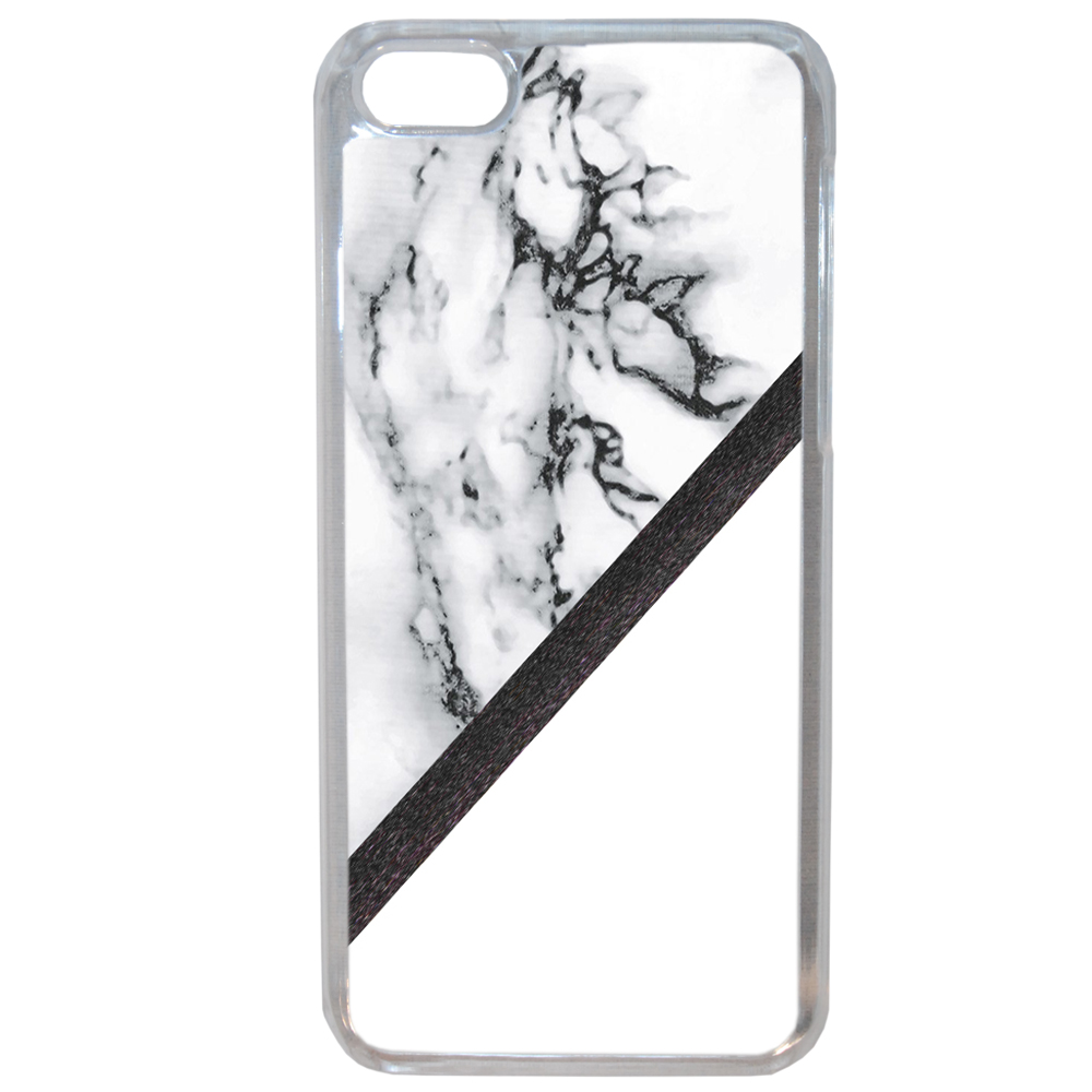 Coque Rigide Pour Apple Iphone 8 Motif Marbre Blanc Noir