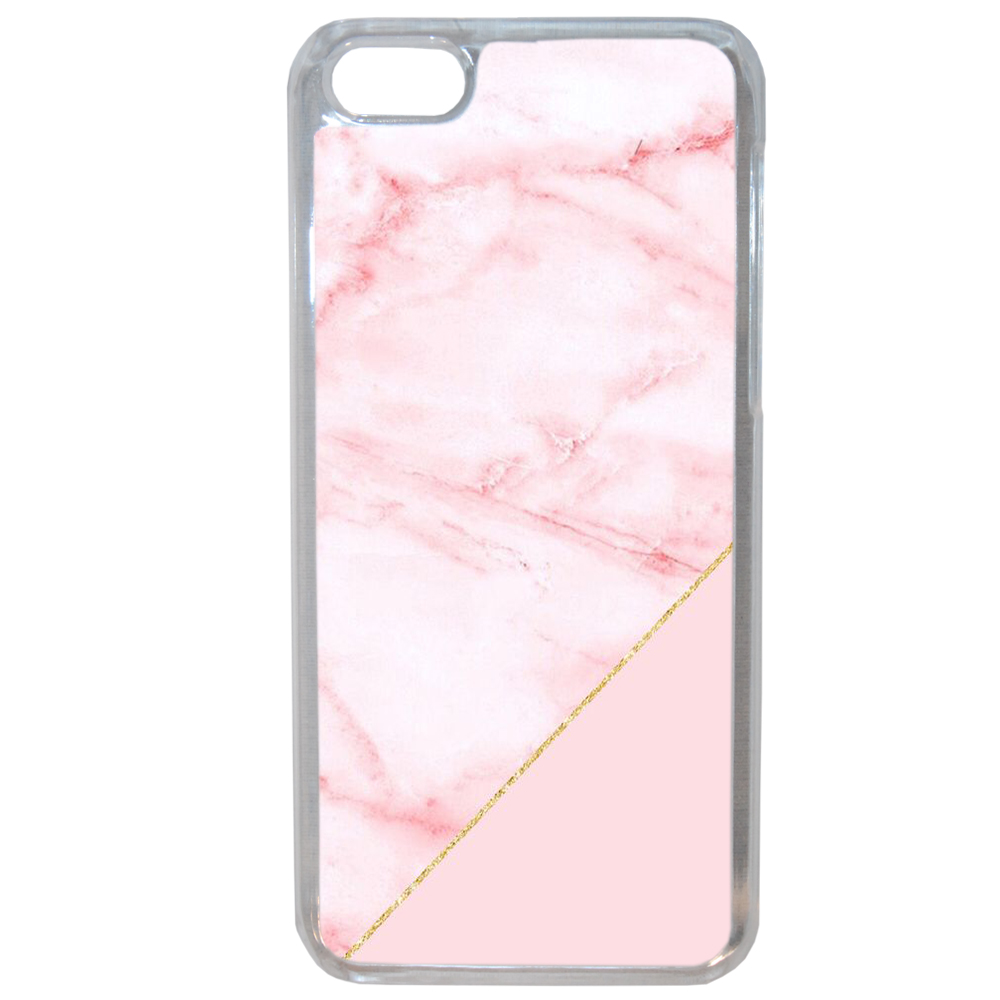 Coque Rigide Pour Apple Iphone 8 Motif Graphique Marbre Rose