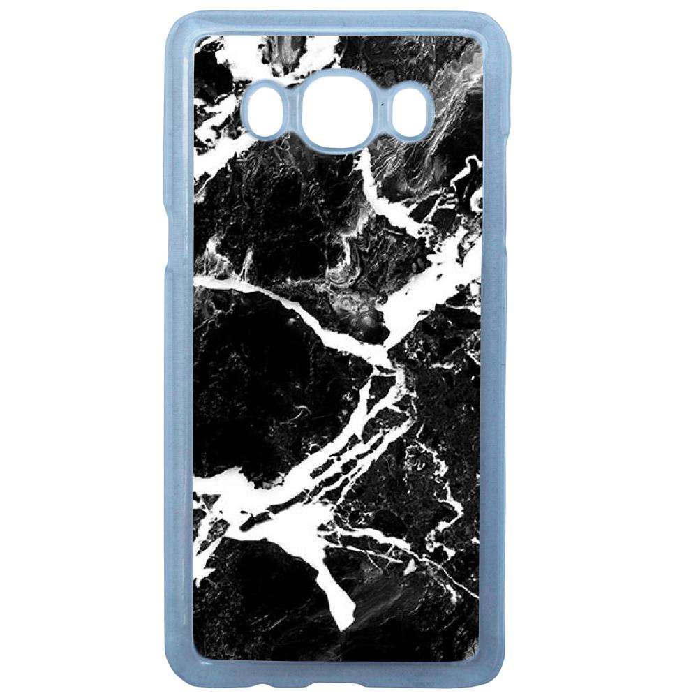 Coque Rigide Pour Samsung Galaxy J3 2016 Motif Graphique Marbre Noir