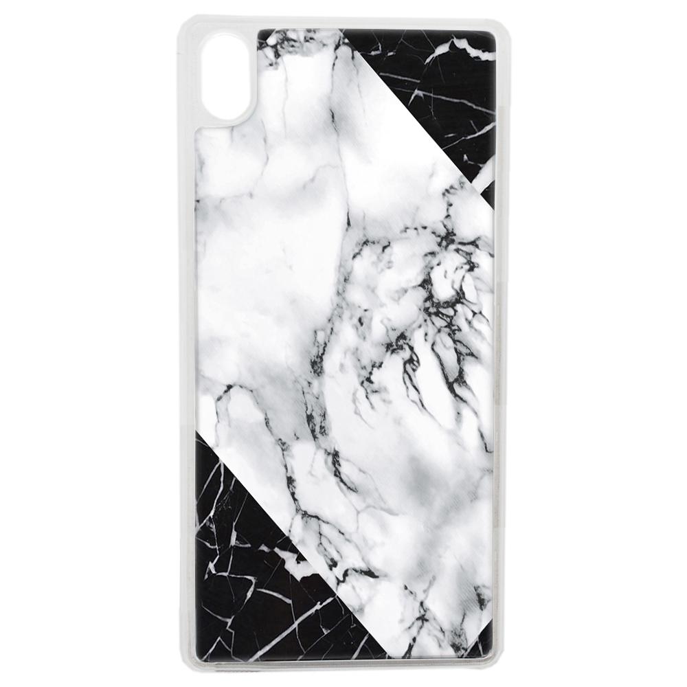 Coque Rigide Pour Apple Iphone Xs Max Motif Graphique Marbre Blanc Et Noir