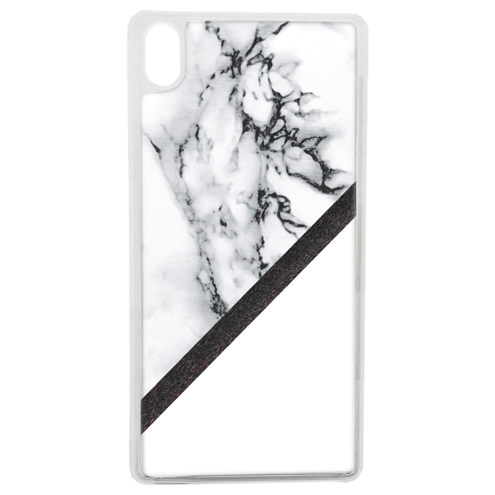 Coque Rigide Pour Apple Iphone Xs Motif Marbre Blanc Noir