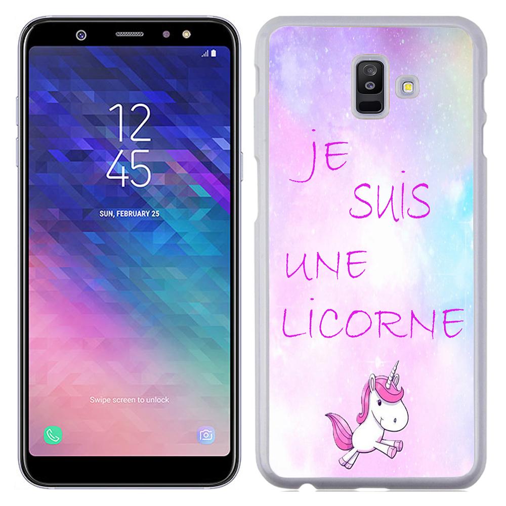 Coque Rigide Pour Samsung Galaxy J6 Plus Motif Je Suis Une Licorne