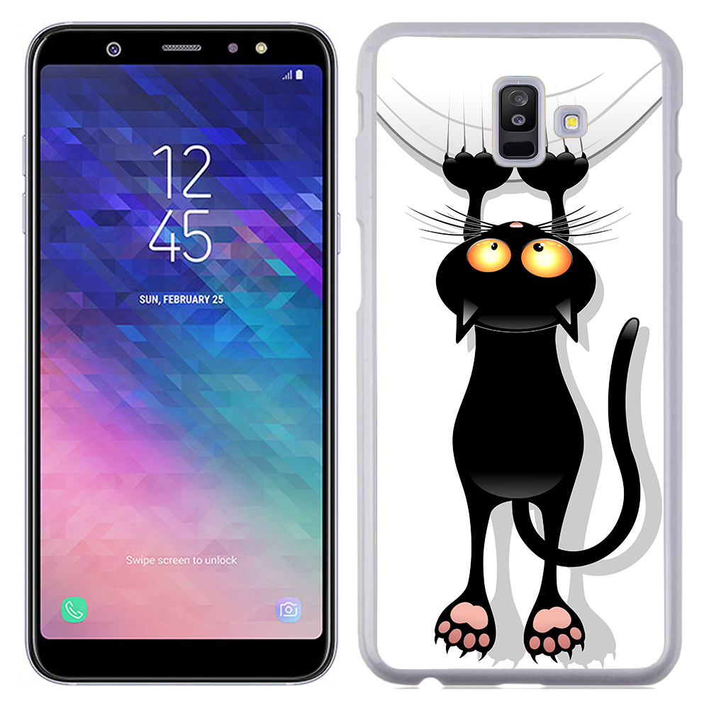 Coque Rigide Pour Samsung Galaxy A6 Plus Motif Chat Humour