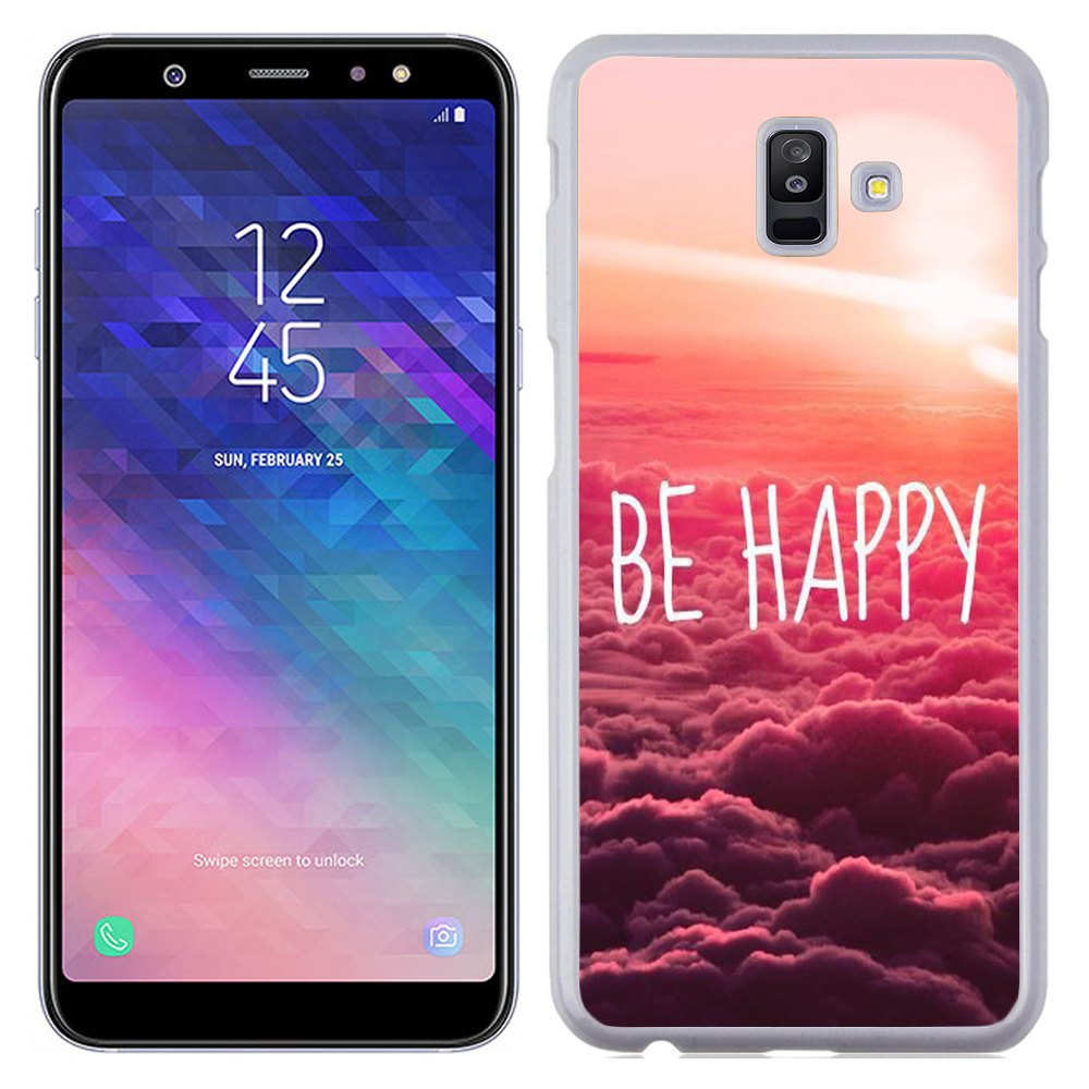 Coque Rigide Pour Samsung Galaxy A6 Plus Motif Be Happy Love
