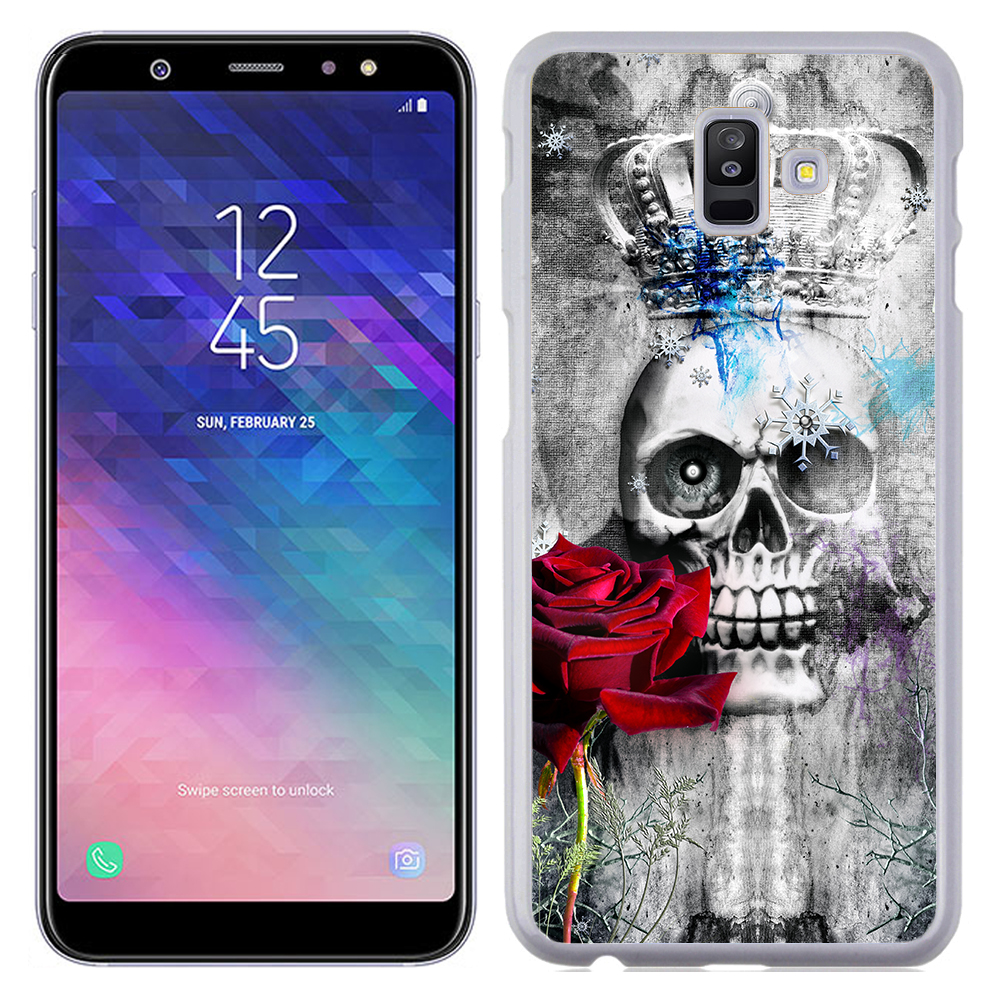 Coque Rigide Pour Samsung Galaxy A6 Plus Motif Tête De Mort Queen