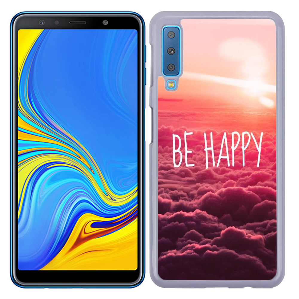 Coque Rigide Pour Samsung Galaxy A7 2018 Motif Be Happy Love