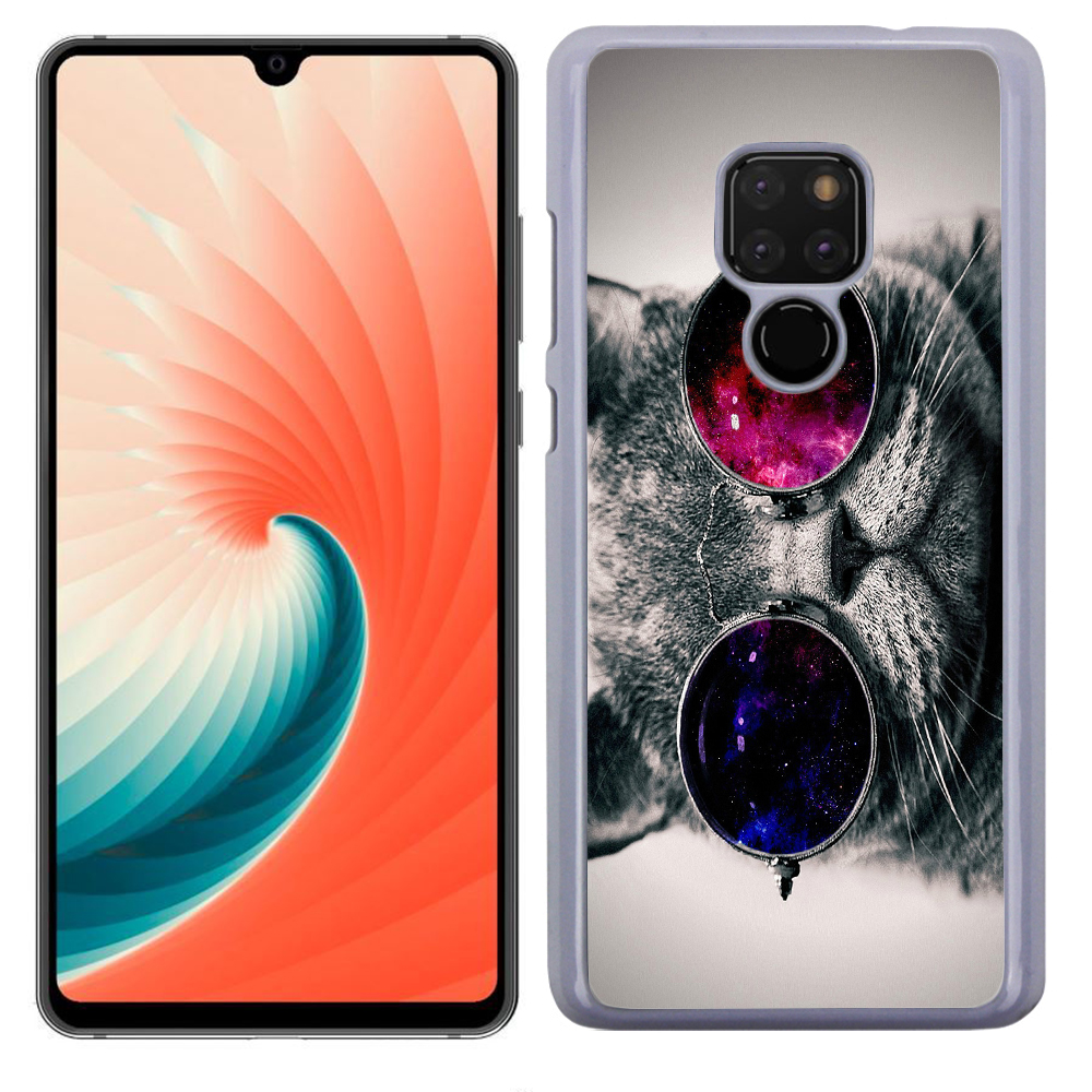 Coque Rigide Pour Huawei Mate 20 Motif Chat Swag Humour
