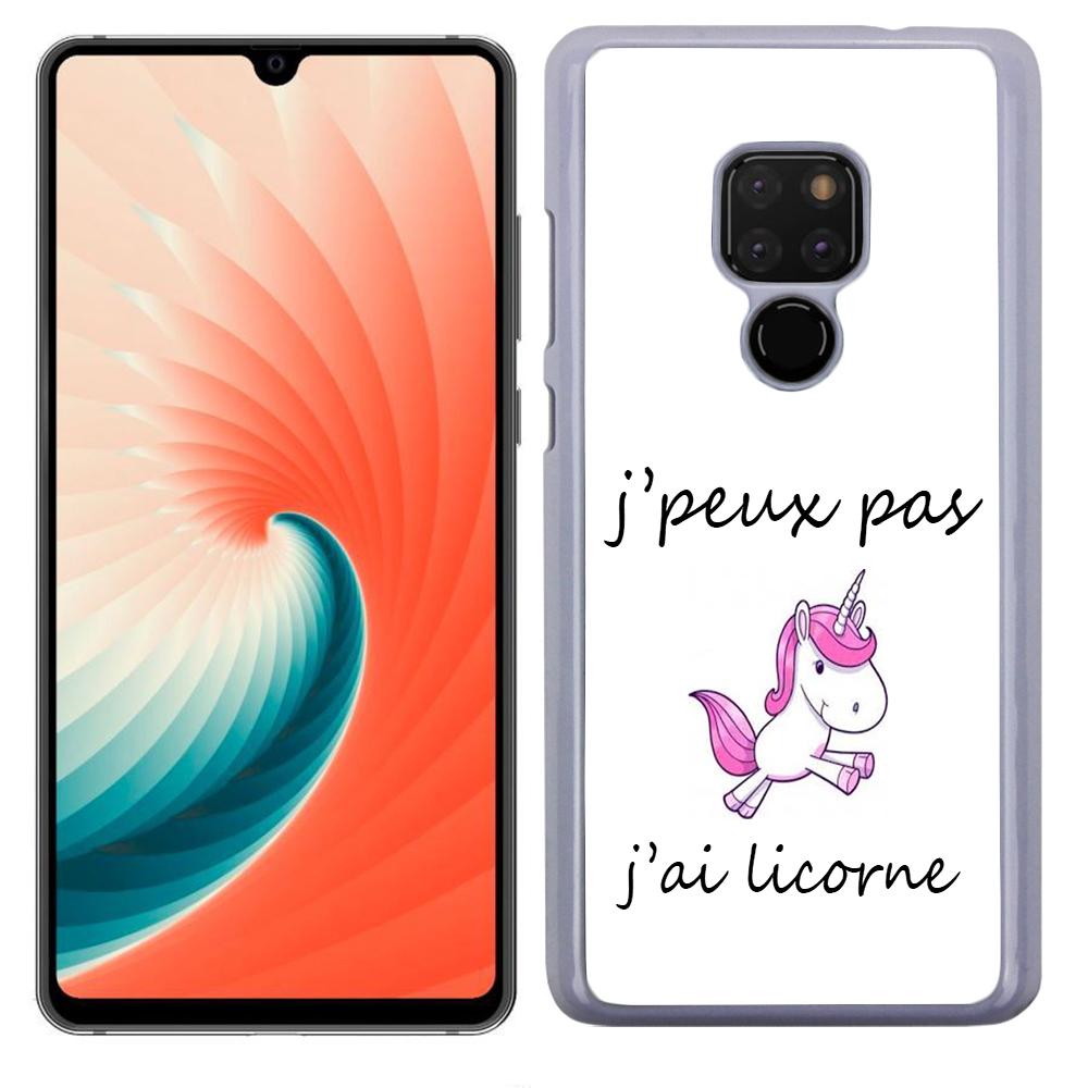 Coque Rigide Pour Huawei Mate 20 Motif J\'peux Pas J\'ai Licorne