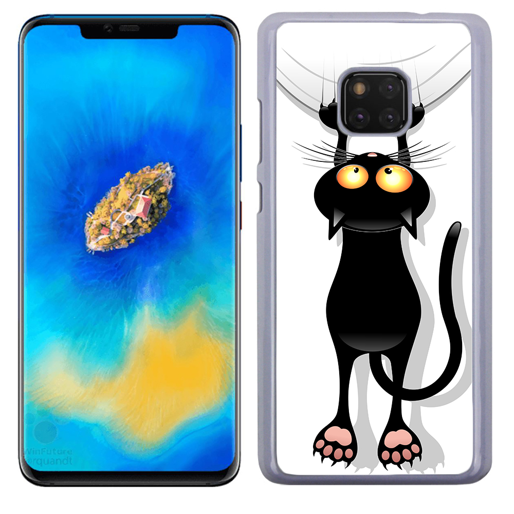 Coque Rigide Pour Huawei Mate 20 Pro Motif Chat Humour