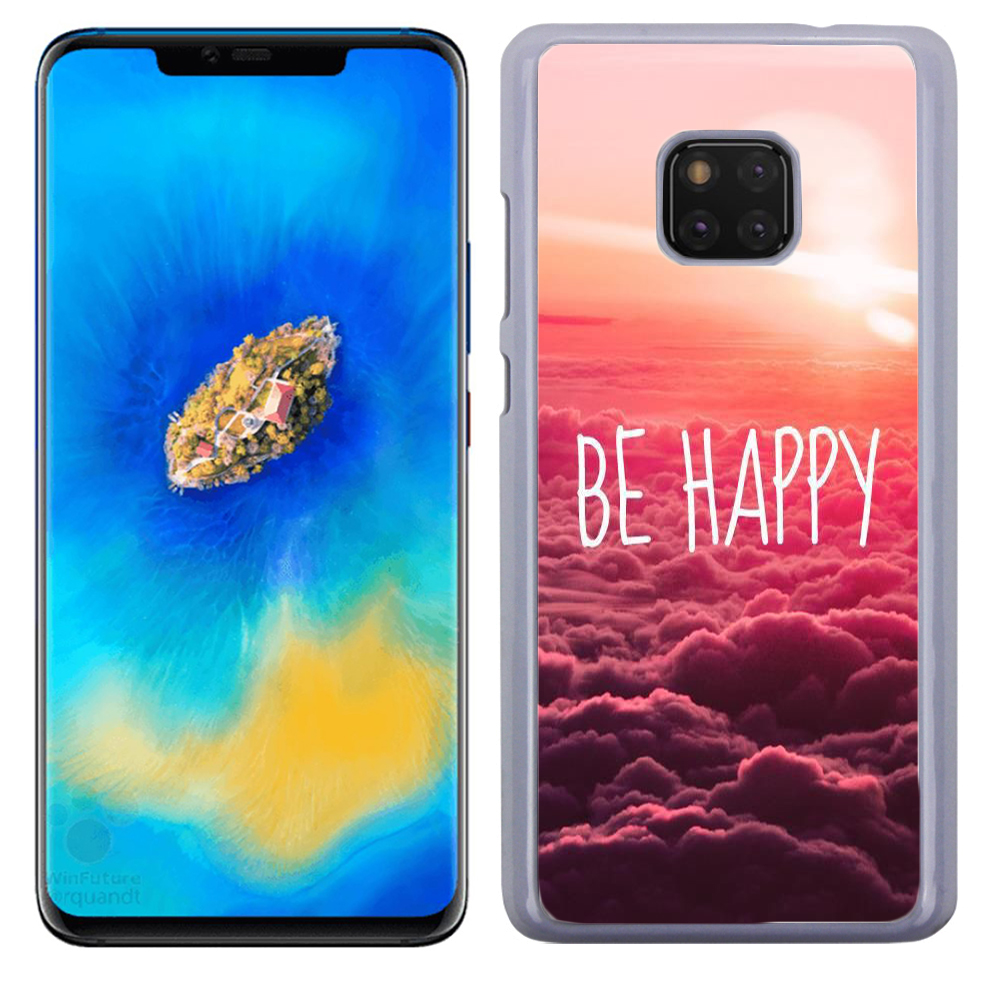 Coque Rigide Pour Huawei Mate 20 Pro Motif Be Happy Love