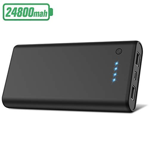 Power Bank Batterie Externe de Secours Charge Rapide 24 000 mAh