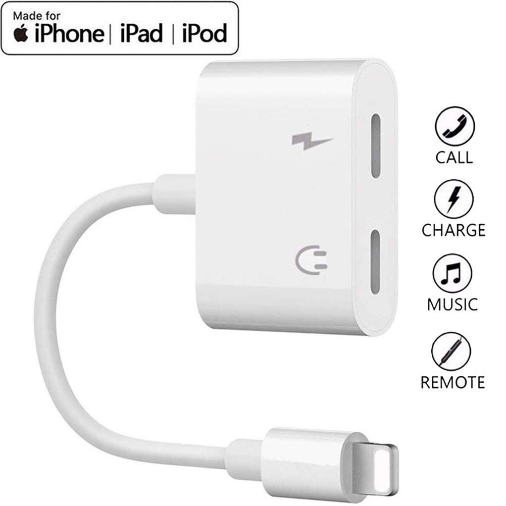 Adaptateur de Casque + Charge 2 En 1 pour iPhone - Audio Lightning V2