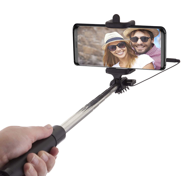 Perche à Selfie Prise Jack Réglable et Extensible jusqu'à 80 cm