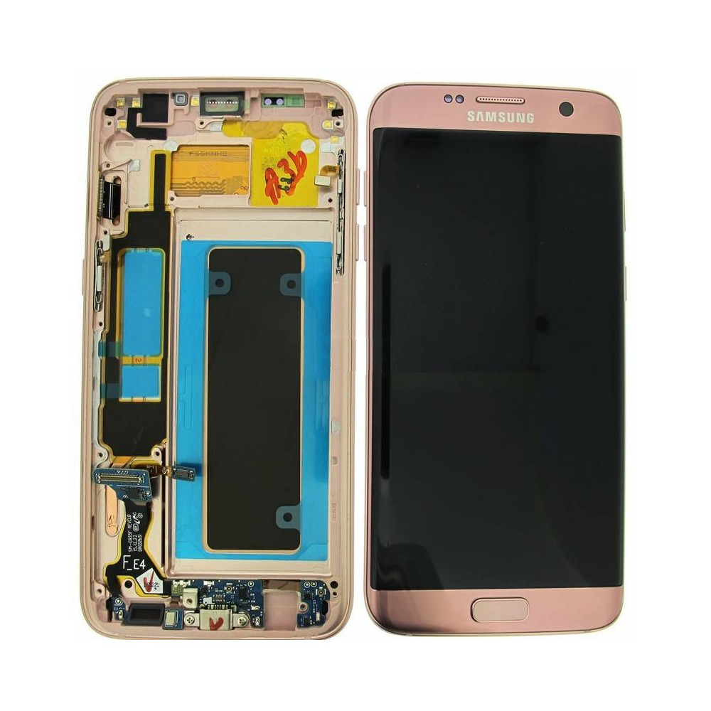 Bloc Ecran LCD Complet pour Samsung Galaxy S7 Edge (G935F) - Rose