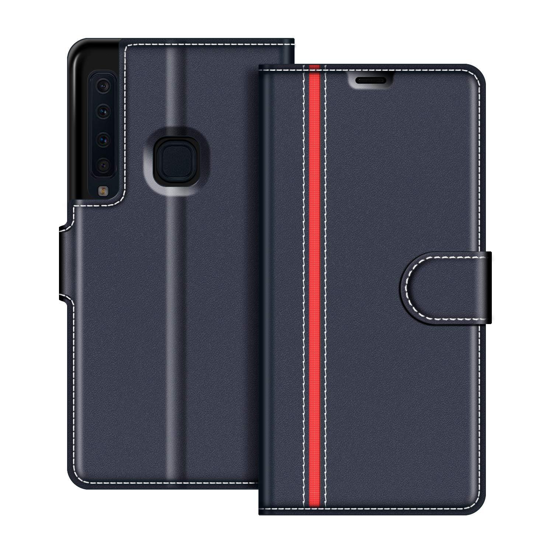 Etui Portefeuille Pemium Bleu et Rouge pour Samsung Galaxy A9 2018