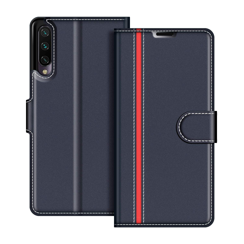 Etui Portefeuille Pemium Bleu et Rouge pour Xiaomi Mi A3