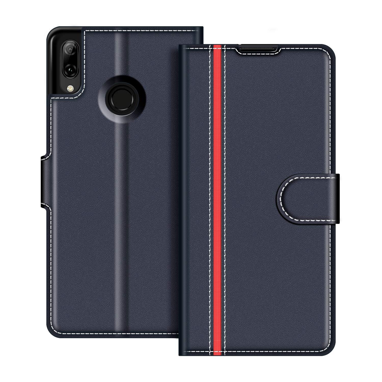Etui Portefeuille Pemium Bleu et Rouge pour Huawei P Smart 2019