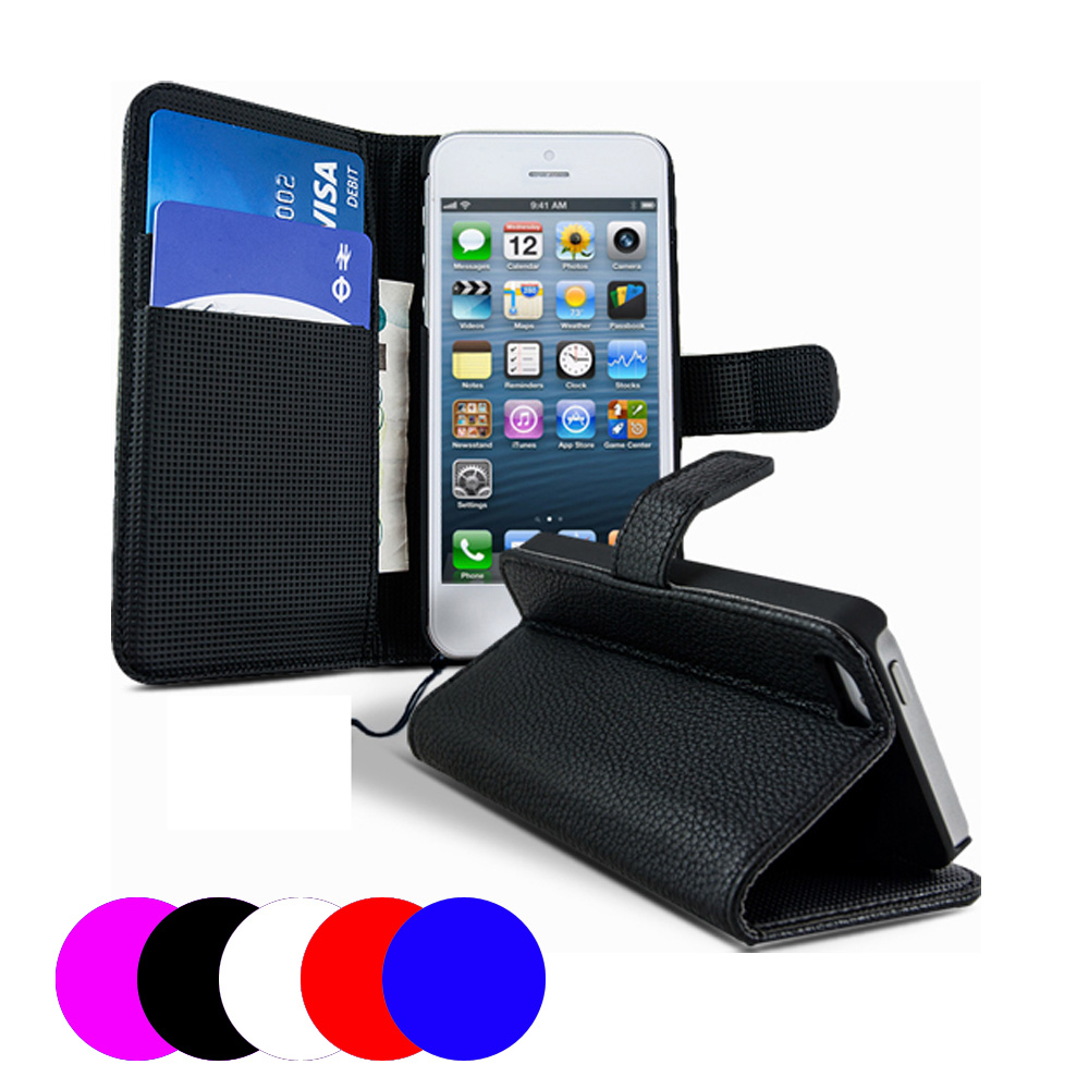 Etui housse coque portefeuille apple iphone 5c film ebay for Housse iphone 5c