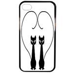 Coque Rigide Chat Duo Pour Apple Iphone 4 - 4s