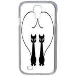 Coque Rigide Chat Duo Pour Samsung Galaxy S4