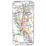 Coque Rigide Carte De Metro Pour Apple Iphone Se