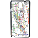 Coque Rigide Carte De Metro Samsung Note 3
