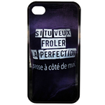 Coque Rigide Pour Apple Iphone 4 - 4s Motif Citation Femme 1 Humour