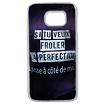 Coque Rigide Pour Samsung Galaxy S6 Edge Motif Citation Femme 1 Humour