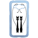 Coque Rigide Chat Duo Pour Samsung Galaxy J1