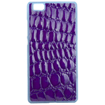 Coque Rigide Effet Crocodile Violet Pour Huawei Ascend P8 Lite