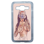 Coque Rigide Girl Tatoo Pour Samsung Galaxy Core Prime