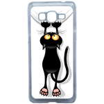 Coque Rigide Pour Samsung Galaxy Grand Prime Motif Chat Humour
