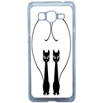 Coque Rigide Chat Duo Pour Samsung Galaxy Grand Prime