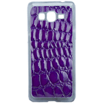 Coque Rigide Pour Samsung Galaxy Grand Prime Motif Crocodile Violet