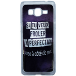 Coque Rigide Pour Samsung Galaxy Grand Prime Motif Citation Femme 1 Humour