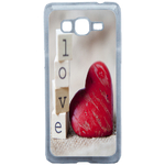 Coque Rigide Coeur Love Pour Samsung Galaxy Grand Prime