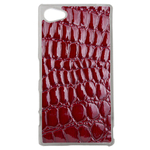 Coque Rigide Effet Crocodile Rouge Pour Sony Xperia Z5 Compact