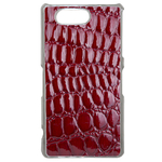 Coque Rigide Effet Crocodile Rouge Pour Sony Xperia Z3 Compact