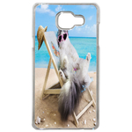 Coque Rigide Pour Samsung Galaxy A3 2017 Motif Chat Plage Humour