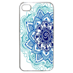 Coque Rigide Pour Apple Iphone 4 - 4s Motif Mandala Bleu