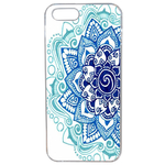 Coque Rigide Pour Apple Iphone Se Motif Mandala Bleu