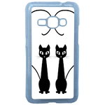 Coque Rigide Chat Duo Pour Samsung Galaxy J1 2016