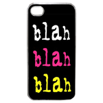 Coque Rigide Pour Apple Iphone 4 - 4s Motif Bla Bla Couleur Flash