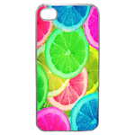 Coque Rigide Pour Apple Iphone 4 - 4s Motif Citron Flash Coloré Été