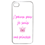 Coque Rigide Pour Apple Iphone 4 - 4s Motif J'peux Pas Je Suis Une Princesse